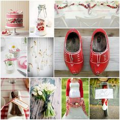 Strawberries and dutch gingham
