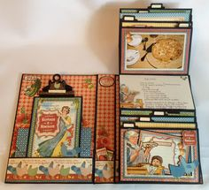 Graphic 45 Home Sweet Home Recipe Mini Album by Anne Rostad