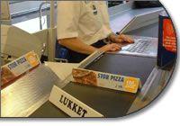 Bandas check-out de supermercados o aeropuertos. Tamaños y velocidad según necesidades