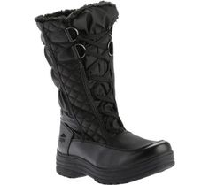 totes Womens Deborah Waterproof Snow BootBlackUS 8 W >>> You can find more details by visiting the image link.