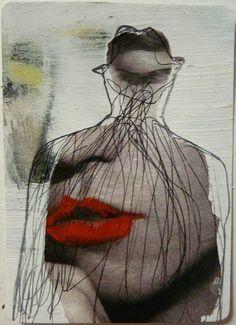 "hermosanikita: "" Veronica Leto, original ACEO painting — warhol punk silhouette — alternative pop art portrait """