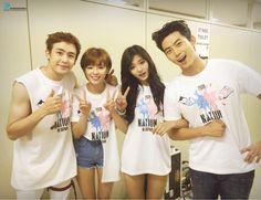 Nichkhun, Jungyeon, Tzuyu and Taecyeon