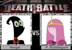 Nergal And Princess Bubblegum Death Battle 2016 Art By Nathaniel