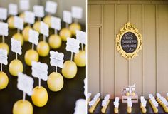 Rustic Chic Glamorous Wedding - Yellow Black and Grey Decor