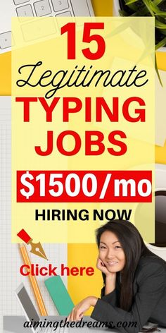 Legitimate typing jobs for working from home and earning money. If you are good at typing and looking for typing jobs to work from home. Typing Jobs From Home, Online Jobs From Home, Work From Home Jobs, Online College, Earn Money From Home, Earn Money Online, Way To Make Money, Money Today, Legitimate Work From Home