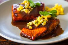 Salmon Teriyaki by steamykitchen #Salmon #Teriyaki