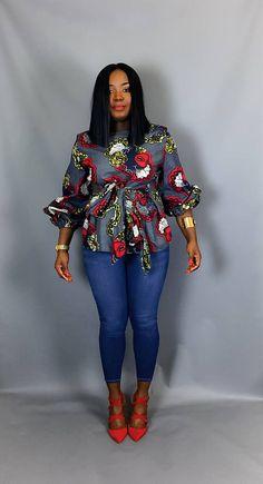 Top imprimé africain vêtements africain chemisier africain