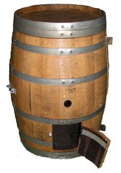 Chicken Coop made from an Oak Barrel