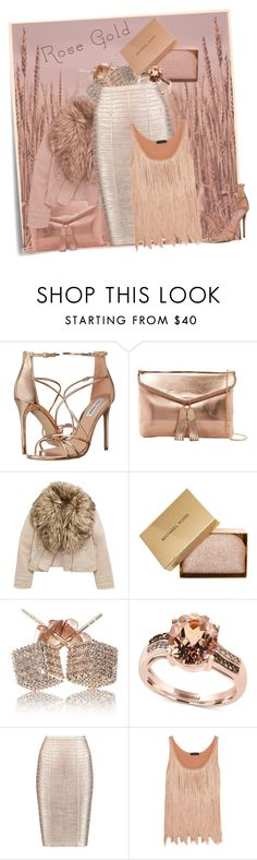 """""""Rose Gold!!"""" by eco-art ❤ liked on Polyvore featuring Post-It, Steve Madden, Urban Expressions, MICHAEL Michael Kors, Loushelou, Effy Jewelry, Hervé Léger and Tom Ford"""