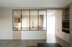 Résidence BRC BY Interieurlabo. Room Deviders, Steel Doors And Windows, Interior Windows, Glass Partition, Interior Decorating, Interior Design, Minimalist Interior, Office Interiors, Home And Living