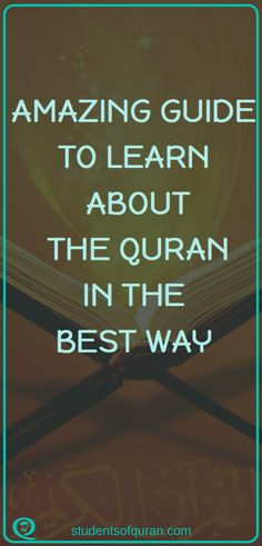 When we try to learn about Islam, the only Book that we consult is the Quran. The Quran contains all the information that Muslims need to know about Islam. This is an amazing guide to learn about the Quran in the best way. Islamic Inspirational Quotes, Islamic Quotes, Motivational Quotes, Quran Verses, Quran Quotes, Scriptures, Learn Quran, Learn Islam, Islam Women