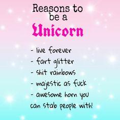 Reasons to be a Unicorn