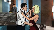 """Archer lists several """"spy techniques"""" in the elevator. One of them is a """"Honeypot"""" (Archer's favorite). It's also the name of a future episode."""