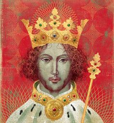 Cover art by Anna + Elena Balbusso for 'Richard II' by Laura Ashe, 2016 (Penguin Press)