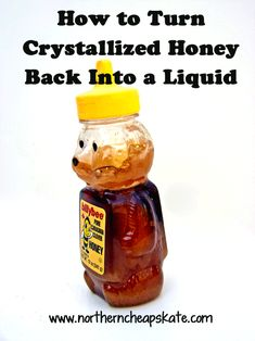 How to Turn Crystallized Honey Back into a Liquid Food Tips, Diet Tips, Cooking Tips, Food Hacks, Cooking Recipes, Saving Ideas, Money Saving Tips, Cheap Trick, Honey Crystalized