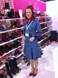 Miss L Fire owner Lynsey Hand at a Magic Tradeshow in Las Vegas, oh that outfit, amazing!!