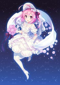 pink hair anime girl