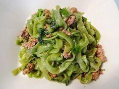 Spinach Fettuccini Shirataki with Ground Beef recipe