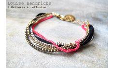 Louise Hendricks bracelet chaines rose #louisehendricks #bracelet #rose #blanc #doré #pyrite #white #gold #lurex #fashion #jewel #bijoux #ss15 #boheme #rock