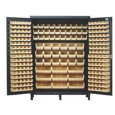 "Quantum 84"" H x 60"" W x 24"" D Super Wide Heavy Duty Storage Cabinet Bin Color: Yellow"