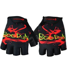 [BLACK]Fixed Gear Half Finger Gloves Men's Cycling Motocycling Gloves