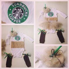 Baby Starbucks costume I made for my friend I need to have a girl