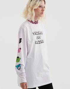Lazy Oaf Things Got Weird LS T-Shirt - Everything - Categories - Womens Fashion 2017, Womens Fashion, Lazy Oaf, Graphic Sweatshirt, T Shirt, Alter, Casual Outfits, Casual Clothes, Street Wear