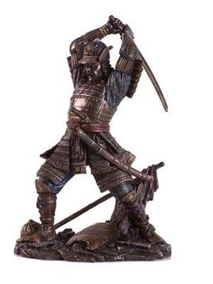 Top Collection Japanese Bushido Samurai Warrior Statue- Historical Sculpture with Martial Arts Sword in Premium Cold Cast Bronze - Collectible Figurine Japanese Warrior, What A Girl Wants, Fun World, Samurai Warrior, Toy Soldiers, Knight, Battle, History, Martial Arts
