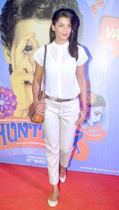Mugdha Godse at the premiere of 'Hunterrr'. #Bollywood #Fashion #Style #Beauty