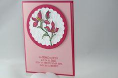 """Dankeskarte """"Blume"""" - Stampin Up - Backyard Basics - Blühende Worte -  ein Designerstück von Aelidan bei DaWanda"""