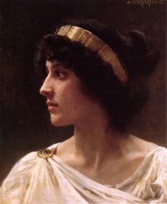 William Adolphe Bouguereau, Irène, 1897. Art Experience NYC www.artexperiencenyc.com