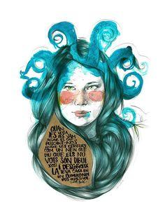 Use brown paper Paula Bonet, Illustration Art, Watercolor, Drawings, Artwork, Poster, Inspiration, Beautiful, Brown Paper