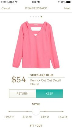 #stitchfix @stitchfix stitch fix https://www.stitchfix.com/referral/3590654  Skies Are Blue Kenrick Cut Out Detail Blouse