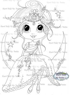 INSTANT DOWNLOAD digitale Digi Stamps großes Auge von SherriBaldy