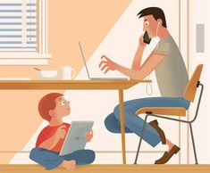 How to Cut Children's Screen Time? Say No to Yourself First. - The New York Times