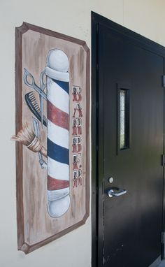 Barber Shop sign (painted) at PDC-South
