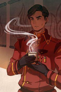 Iroh drinking tea!