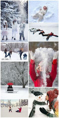 Wintertime: photo session in the snow - moments to live for