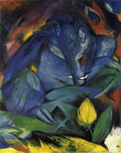 Franz Marc, Wild Pigs (Boar and Sow), 1913