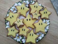 Nintendo star cookies - I didn't make these for my party, but thought they would be perfect for the theme