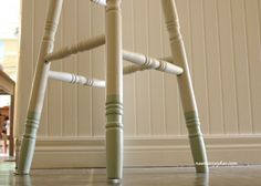 barstool dipped paint legs