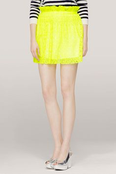 MSGM...this skirt is BEYOND cute, too short for me to wear, but OMG...look at the waist, adorbs!