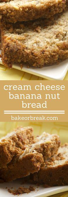 Cream Cheese Banana Nut Bread may very well be your new favorite banana bread. It is so, so good! - Bake or Break ~ http://www.bakeorbreak.com