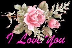 Pink Sparkle Pic Of I Love You-cy166