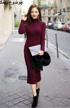 4f7a74ac70456 Photo Dress knit models fashion winter outfits 2016 trends from Best Street  Style Outfit Ideas