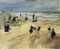Liebermann, Max: Strandszene in Noordwijk, 1908.