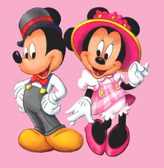 Old fashioned dressy Mickey and Minnie
