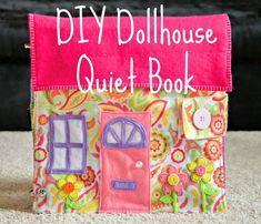 When I found out I was having a little girl, I knew that I HAD to make her a dollhouse quiet book. Making a dollhouse quiet book was quite different from making activity-style quiet books like I ha… Diy Quiet Books, Baby Quiet Book, Felt Quiet Books, Quiet Book For Toddlers, Activity Books For Toddlers, Sewing For Kids, Diy For Kids, Quiet Book Patterns, Quiet Book Templates