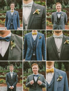THis party has got it together Glam Garden Party Wedding: Emily + Ed – Part 2 - Different Bow Ties, very cool.