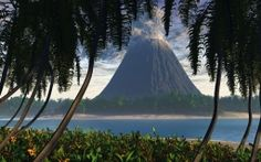 Scarica Vulcani sulla spiaggia Carta da parati di alta qualità